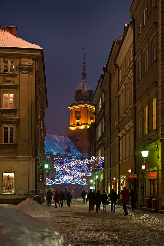 Old Town Street And Royal Castle