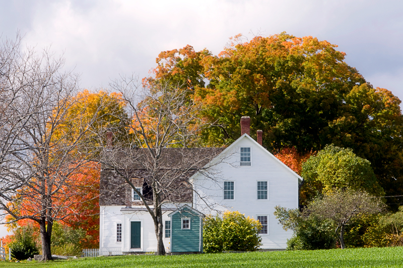 East House in Autumn