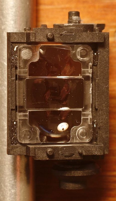 Prism box that makes up the heart of the AF mechanism.