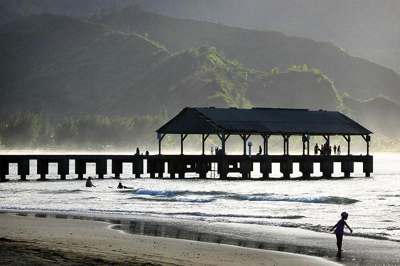 Pier at Hanalei Bay