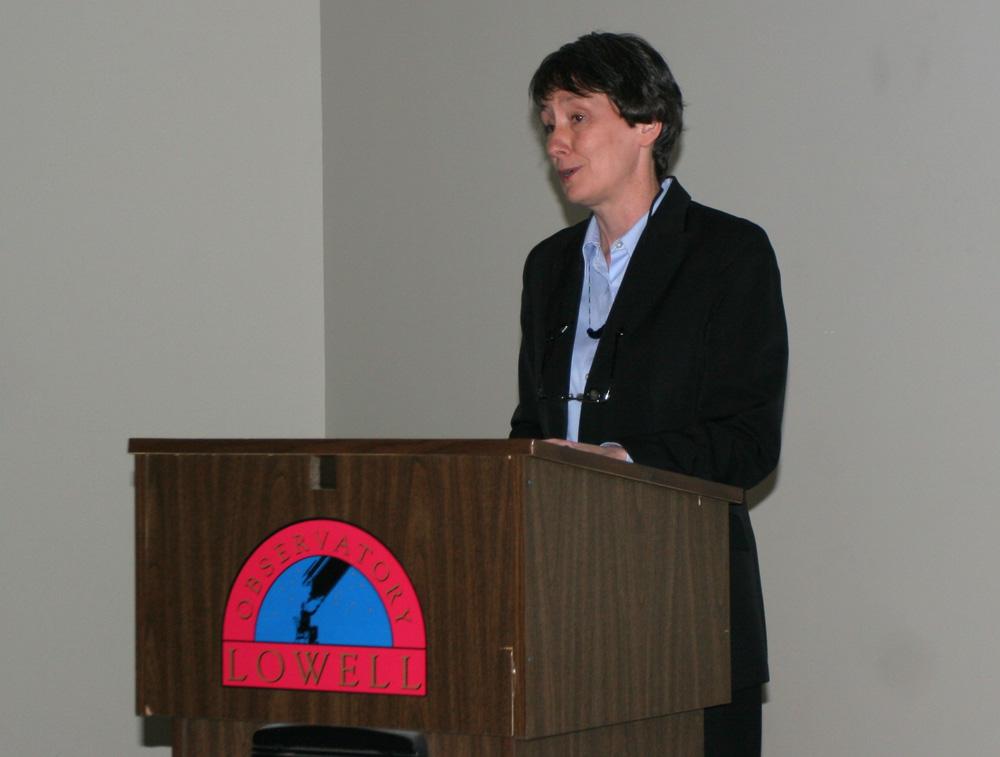 Lowell Observatorys new Director Dr. Eileen Friel--owned a set of Burnhams since grad school!