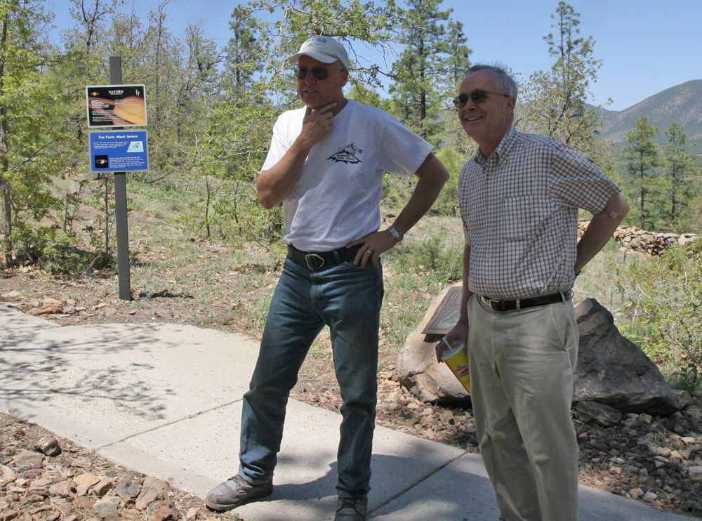 Boulder scouting--Tom of Mountain Stone Works and Dr. Millis,Director Emeritus of Lowell  Mars Hill May 2009