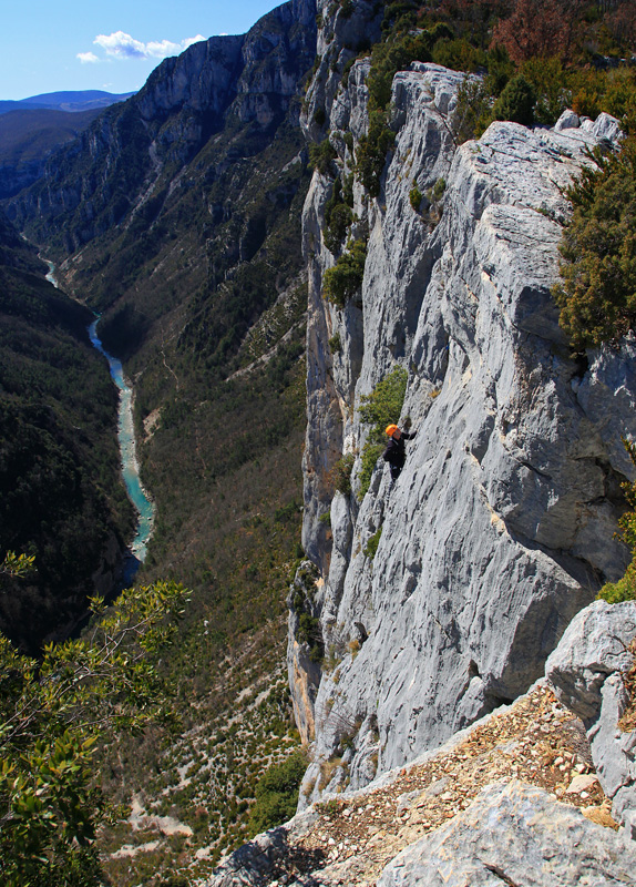 Climbing in the Gorge