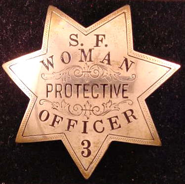 very rare women officer badge(Pat Olvey photo collection)