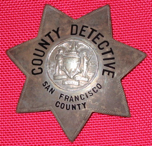 rare 20s or 30s SF County Dective used by the DA