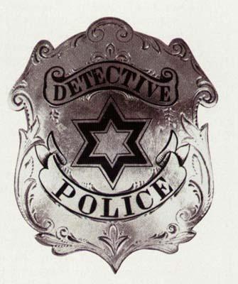 antique police badge series 1