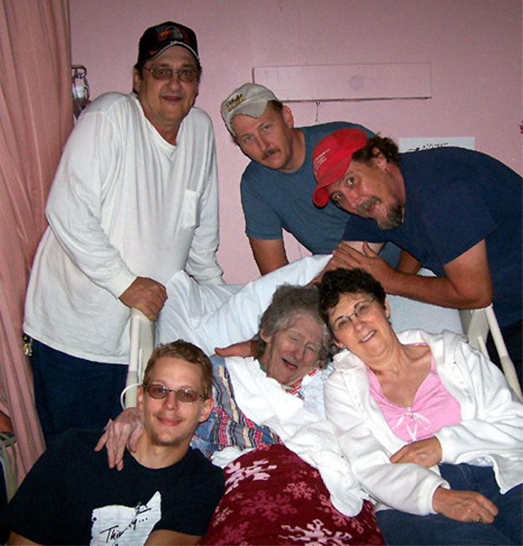 Mom Surrounded by Family