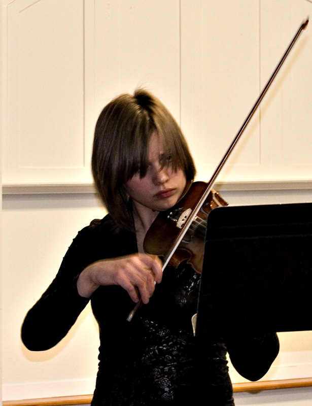 Masha rehearsing