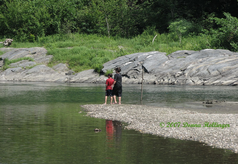 This summer Joncarlo and Domenic at the White River