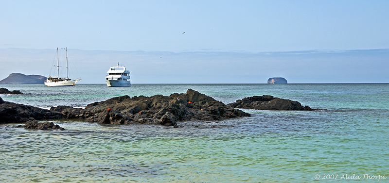 two boats, Galapagos Islands