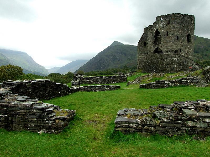 Dolbadarn Castle guarding the Llanberis Pass.