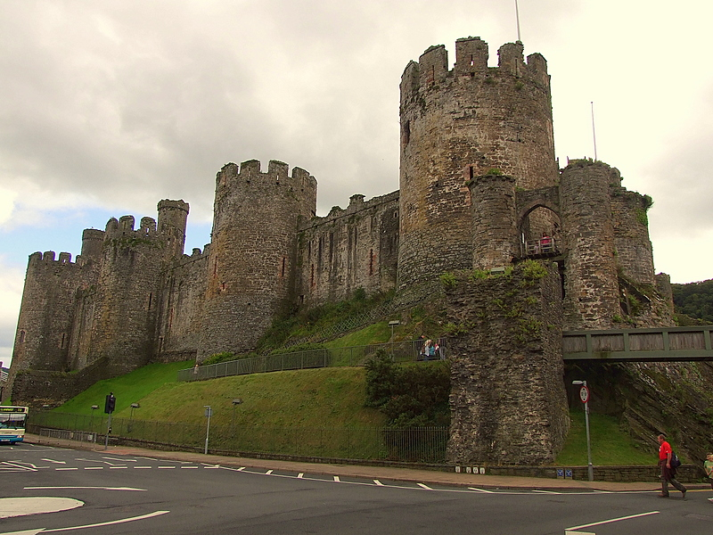Conwy Castle,the north range of towers.
