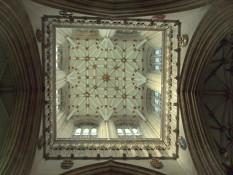 Looking up into the Tower of The Minster