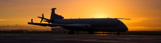 Raf  Nimrod  at  sunset