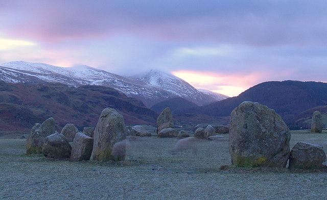 Ghostly  sheep  at  Castlerigg  Stone  Circle