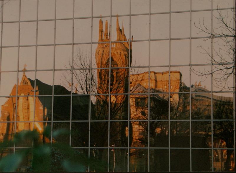 St.Pauls church,Hammersmith,reflected.