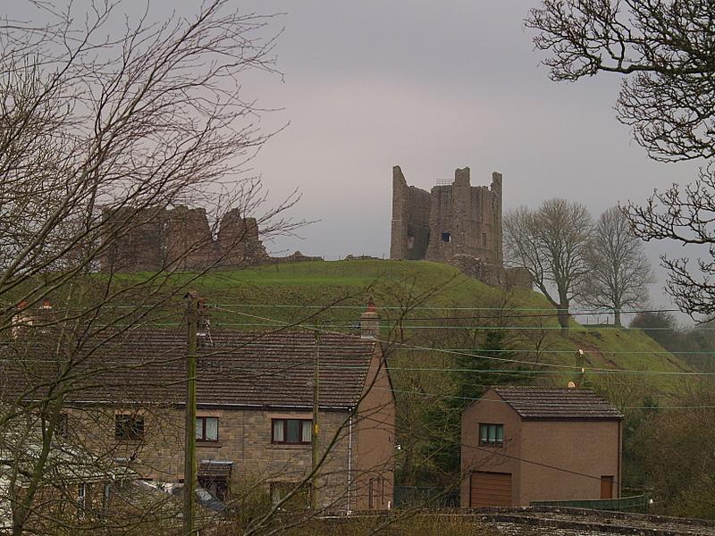 Brough Castle,commanding the town.