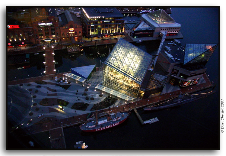 Baltimore Harbor From Above