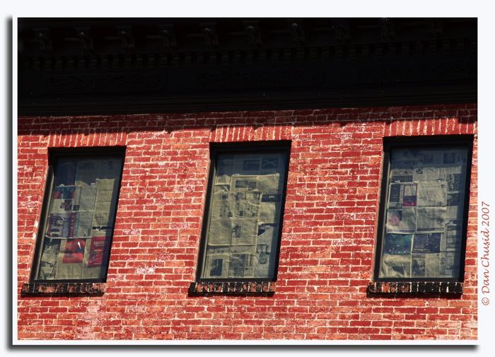 Papered Windows
