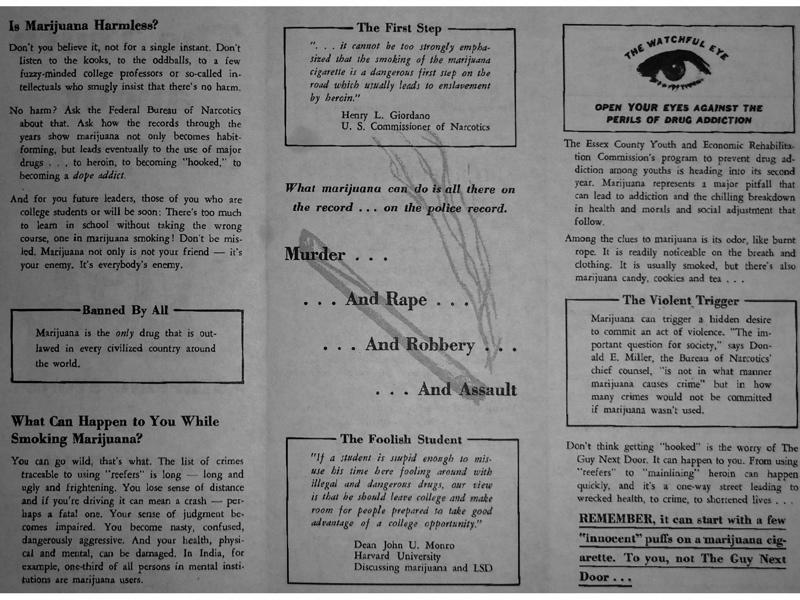 1967 Essex County New Jersey Marijuana Pamphlet