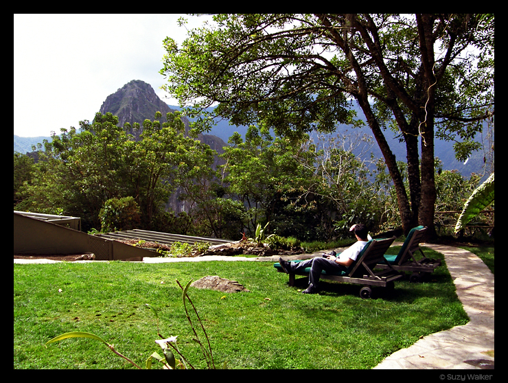 View from our room at Sanctuary Lodge Hotel, Machu Picchu