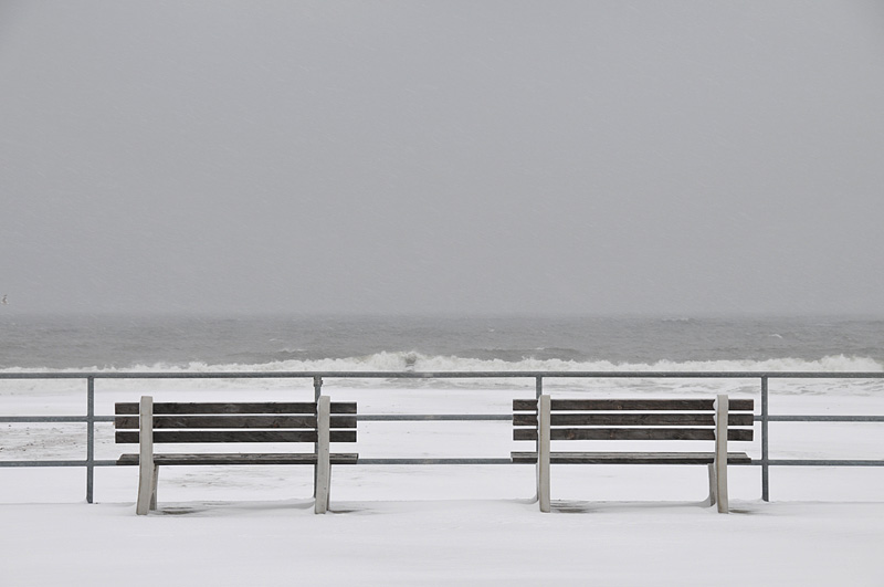Benches On The Boardwalk