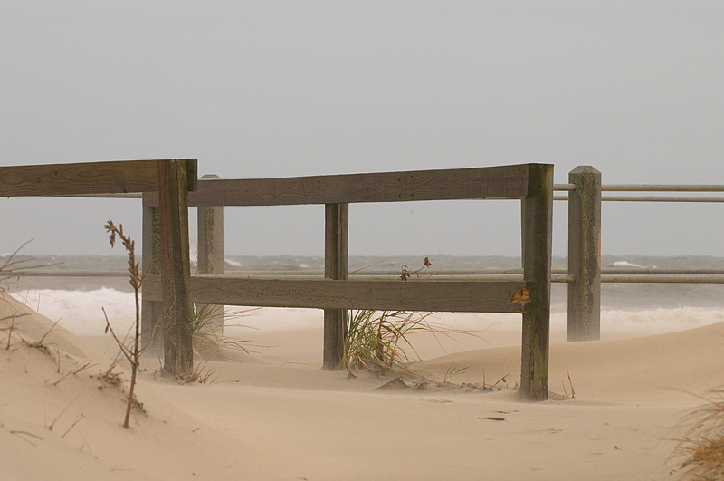 Sand Blown Off the Beach and Onto the Boardwalk