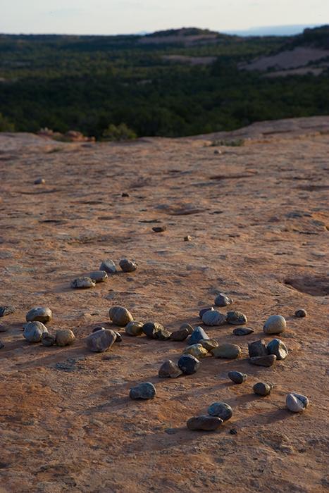 08-05 Pebbles on slickrock.JPG