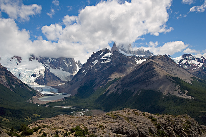 08-01 Glaciar Grande Lago Torre and Fitz Roy Massif.JPG