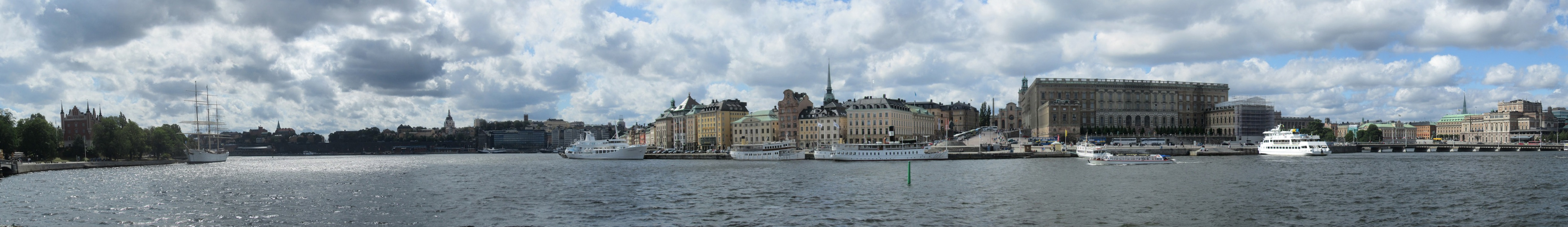 pano: Stockholm harbor from Norrmalm