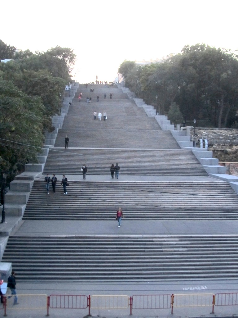 now we head back up the Potemkin Stairs (well take the funicular)