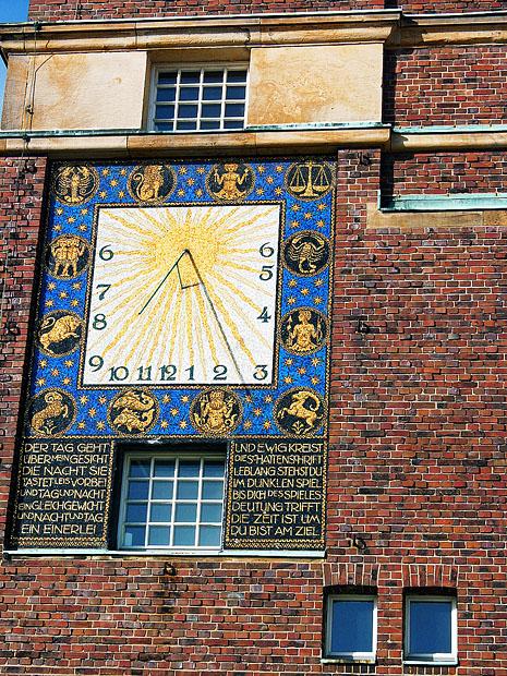 Mosaic sundial