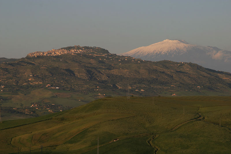 Monte Etna seen from Enna,Sicily