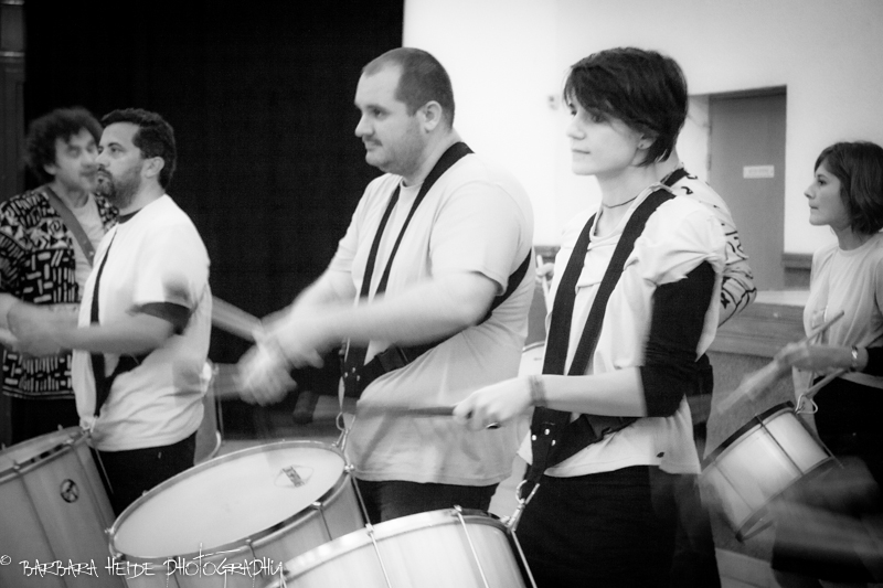drummer performance at the charity evening