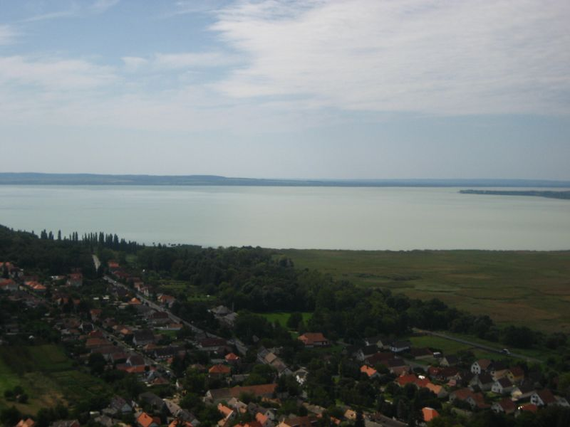 view from Szigliget Castle Ruins