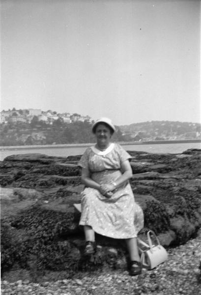 Holiday 1958 Grandma with Plymouth behind_negMscan (Medium).jpg