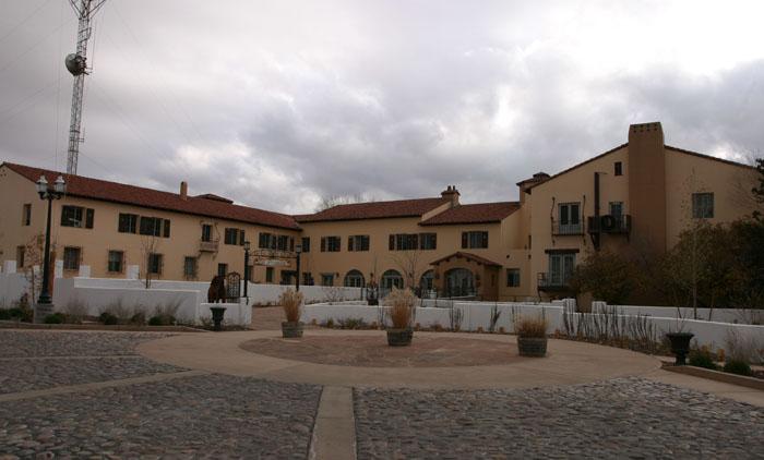 La Posada railroad Hotel.