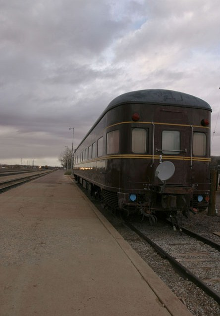 Railroad car.