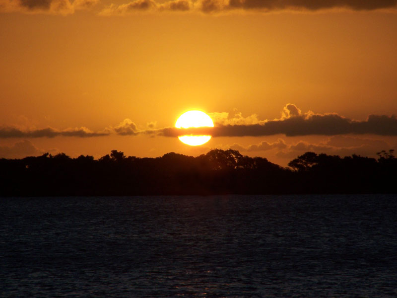 Sunset over Guaíba Lake