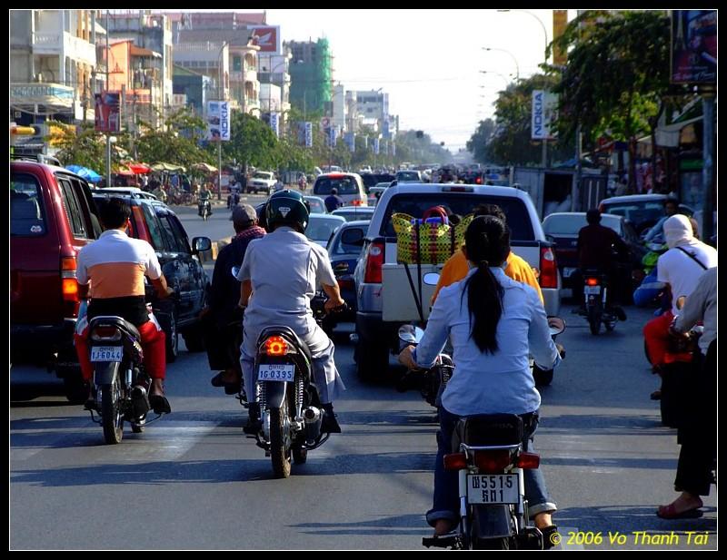 On the move, Phnom Pehn