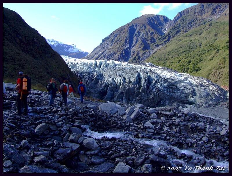 Hiking up to Fox Glacier