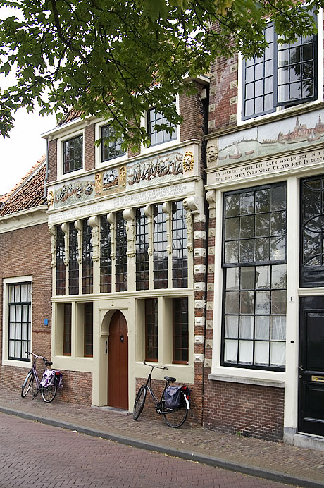 Hoorn. North-Holland: houses near harbor