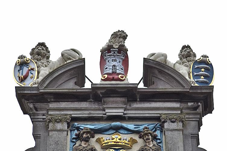 top of the museum façade
