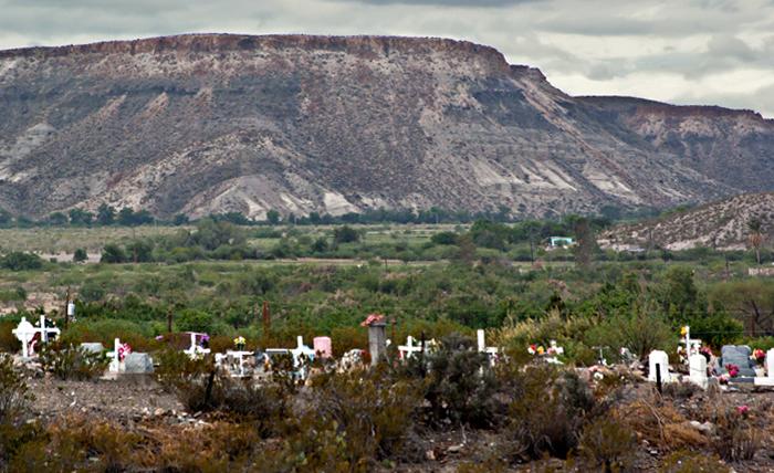Cemetery near Lajitas