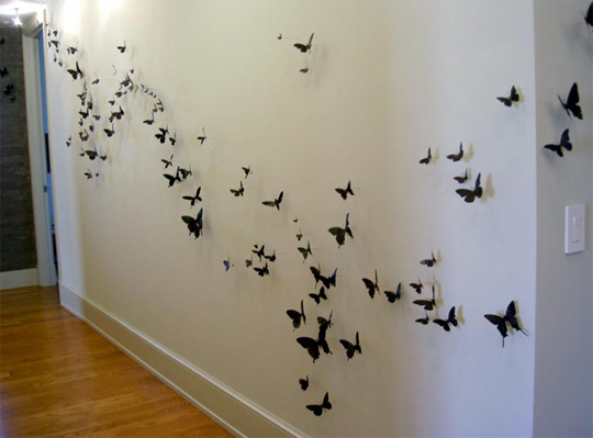 Декор интерьера бабочками своими руками 96