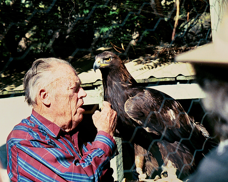 Morley Nelson and one of his Golden Eagles