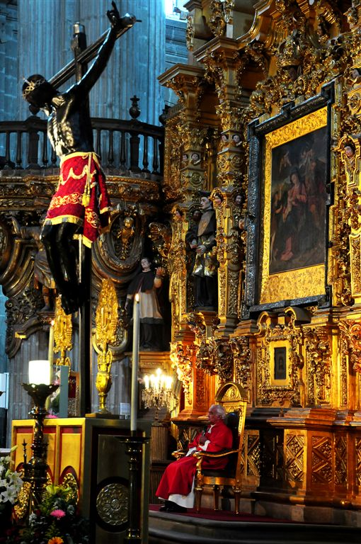 Archbishop In Cathedral, Mexico City