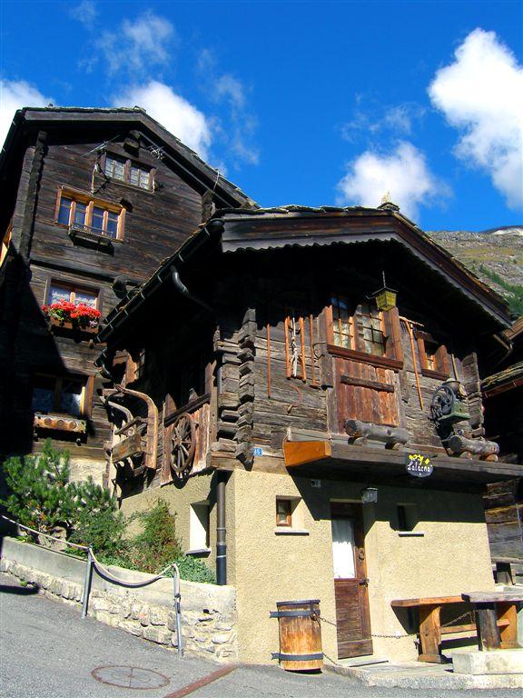 Rustic Houses in Zermatt, Swiss Alps