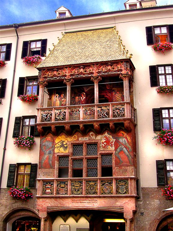 Emperor Maximillians Golden Roof, Innsbruck, Austria