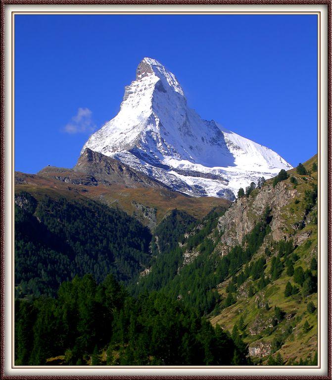 Magnificient 4.8 Km High Matterhorn in Zermatt , Swiss Alps